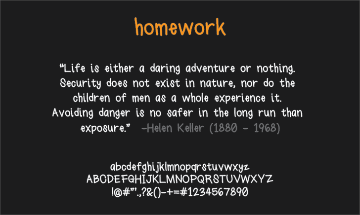 homework font by LALATO FONTS