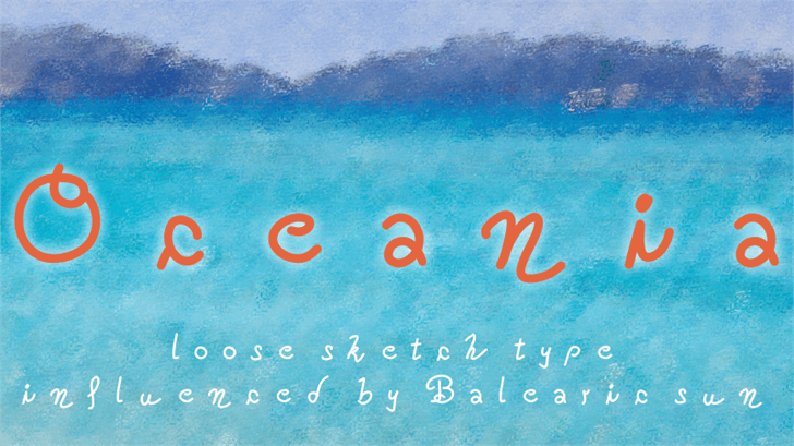Oceania Font child art handwriting