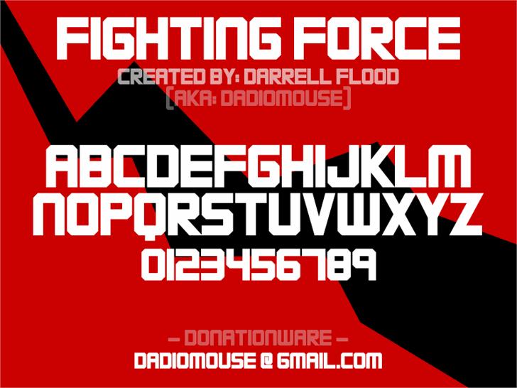 FIGHTING FORCE Font text screenshot