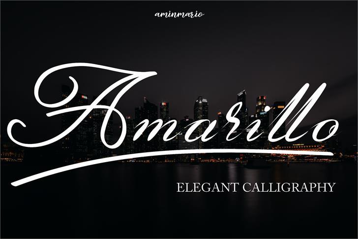 Amarillo Font design typography