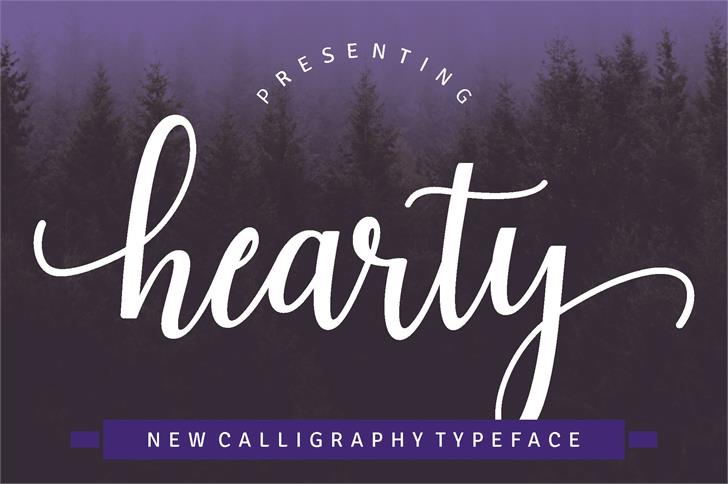 Haearty Script Font text typography