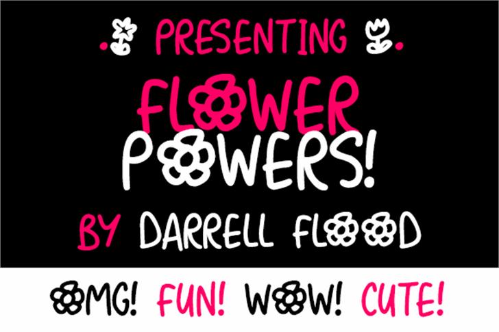 Flower Powers Font design graphic