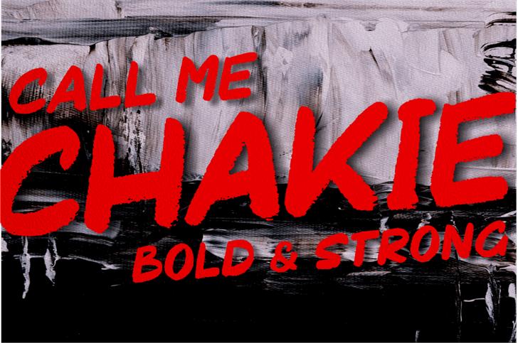 Chakie Font abstract graffiti
