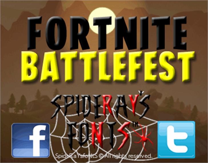 FORTNITE BATTLEFEST Font poster screenshot