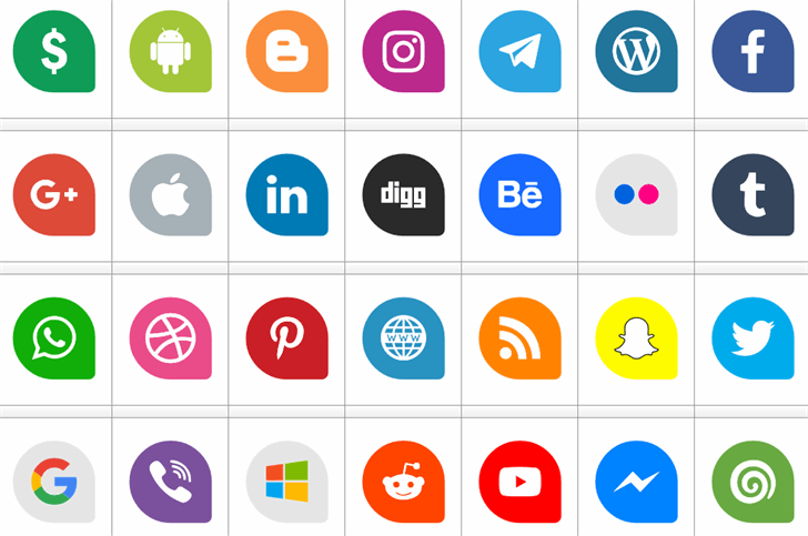 Icons Social Media 13 Font screenshot internet