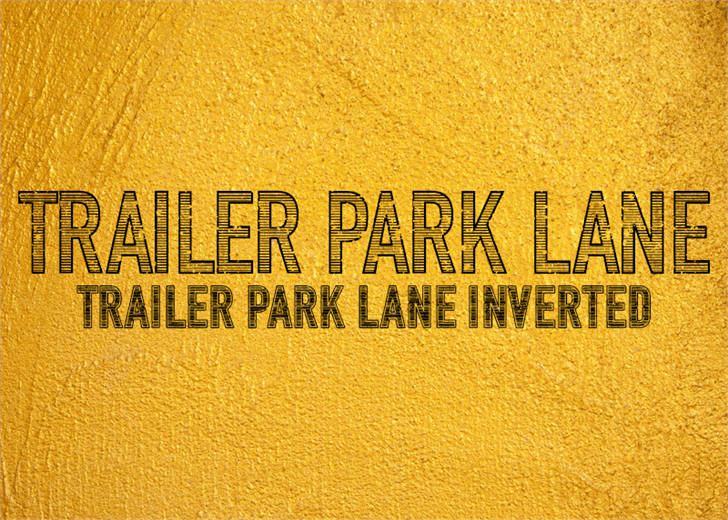 Trailer Park Lane Font yellow gold