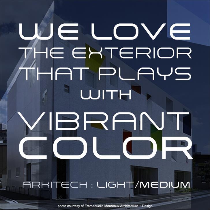 Arkitech Medium font by Neogrey Creative