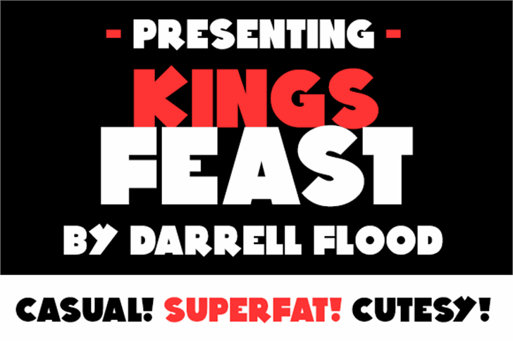 Kings Feast Font poster graphic
