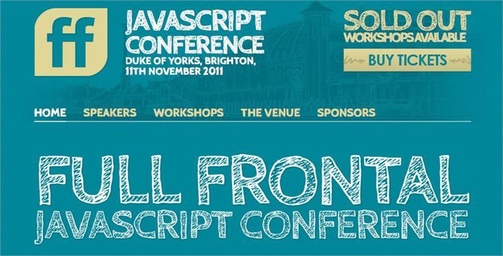Cabin Sketch Font screenshot design