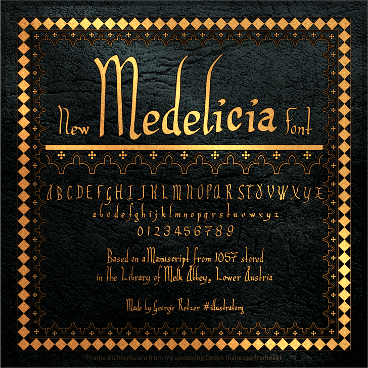 Medelicia Font text poster