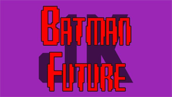 Batman Future Font poster screenshot