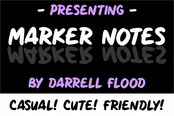 Marker Notes font by Darrell Flood
