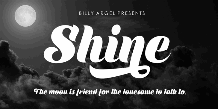 Shine Personal Use font by Billy Argel