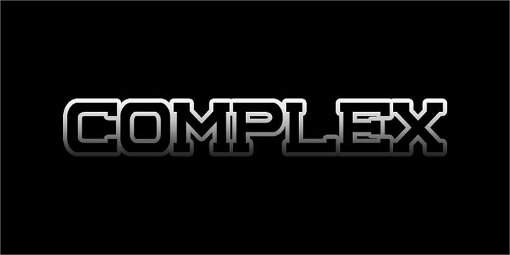 Complex Font screenshot design