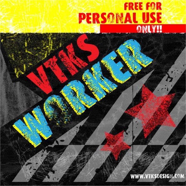 VTKS WORKER Font screenshot text