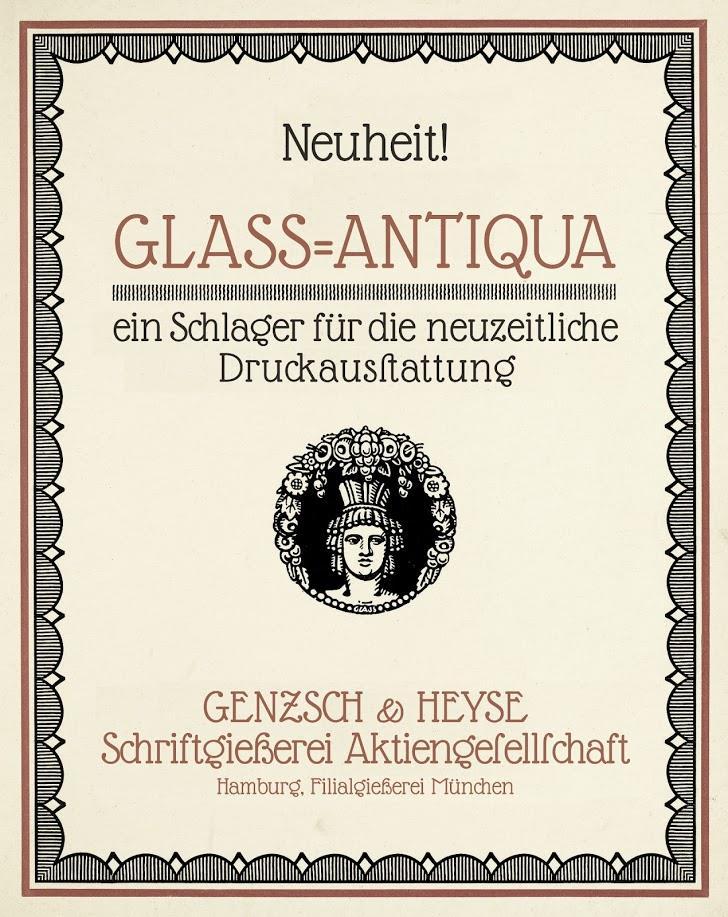 Glass Antiqua Font design typography