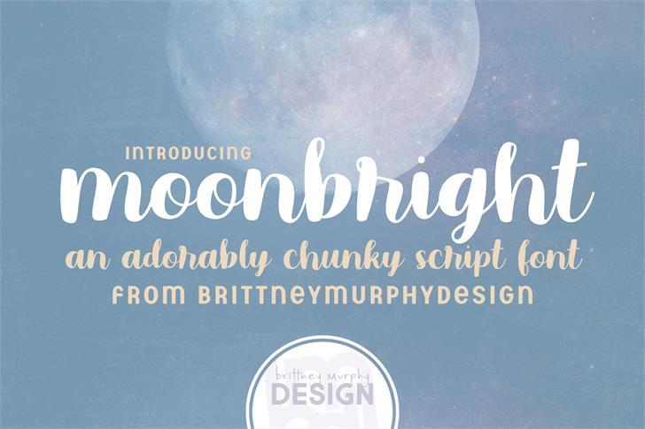 moonbright Font poster