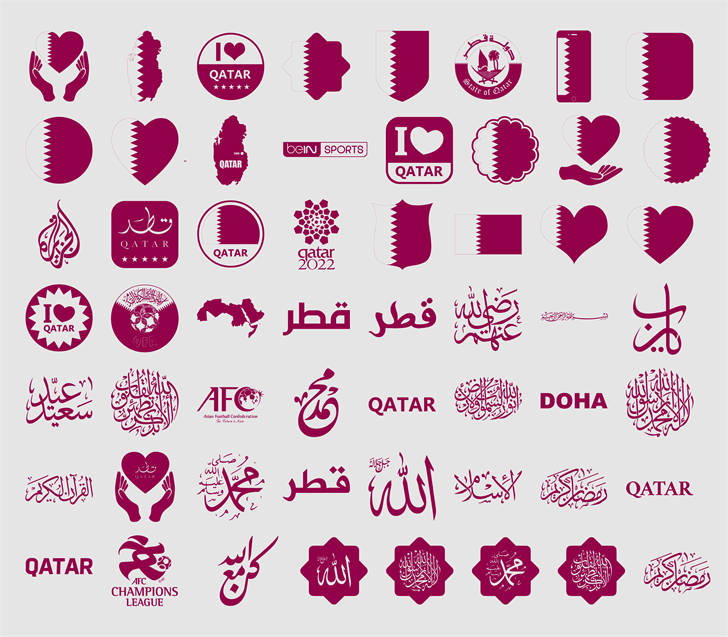 Font Color Qatar Font cartoon graphic