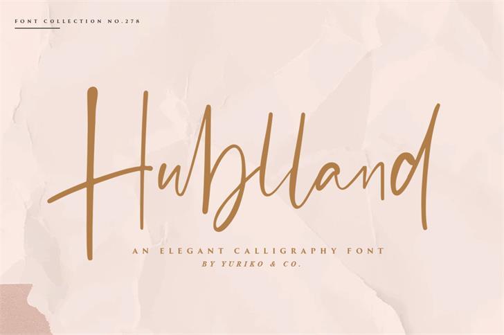 Hublland Font poster