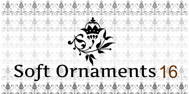 Soft Ornaments Sixteen Font design cartoon