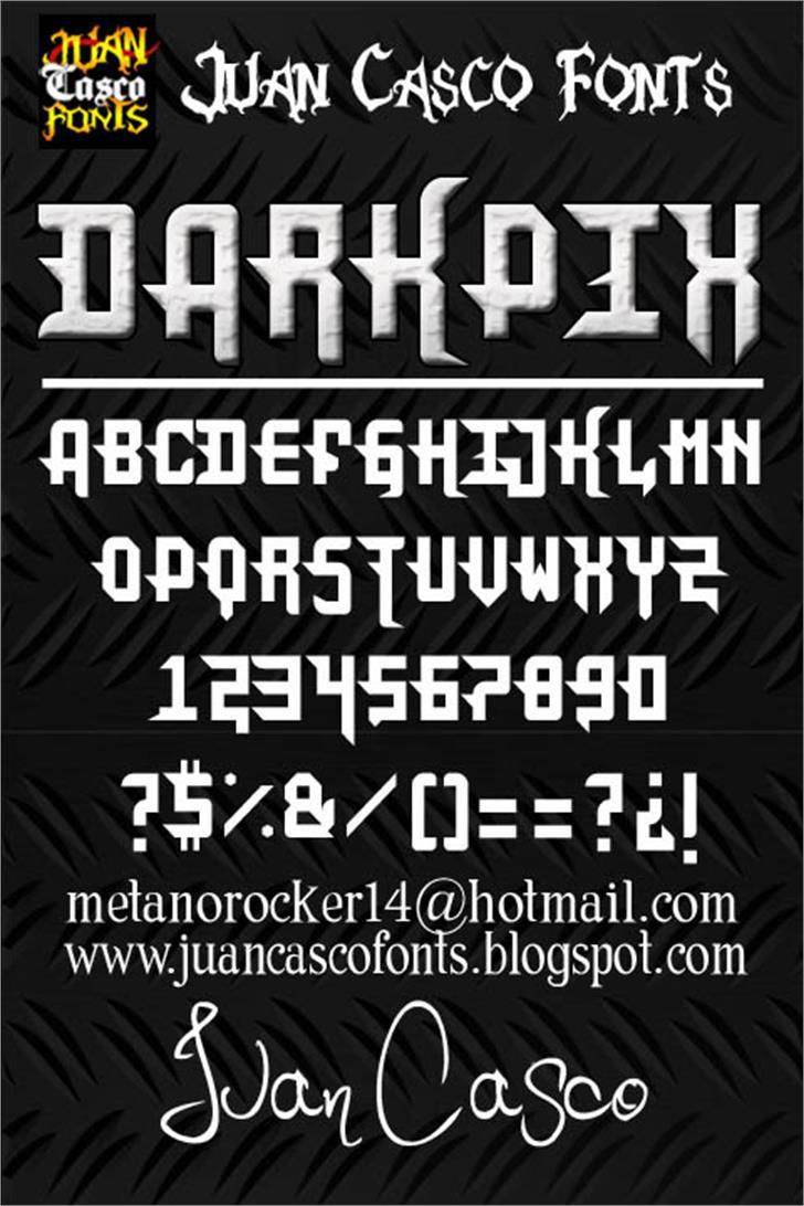 DarkPix Font poster text