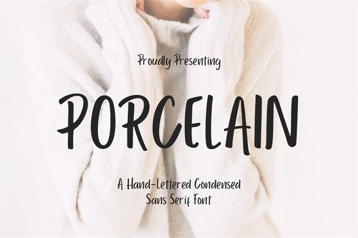 Porcelain Font text