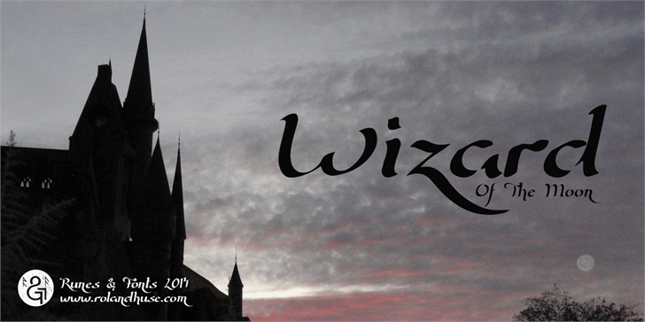 Wizard Of The Moon Font outdoor sky