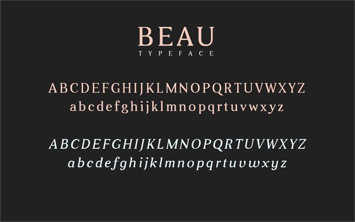 Beau Font screenshot text
