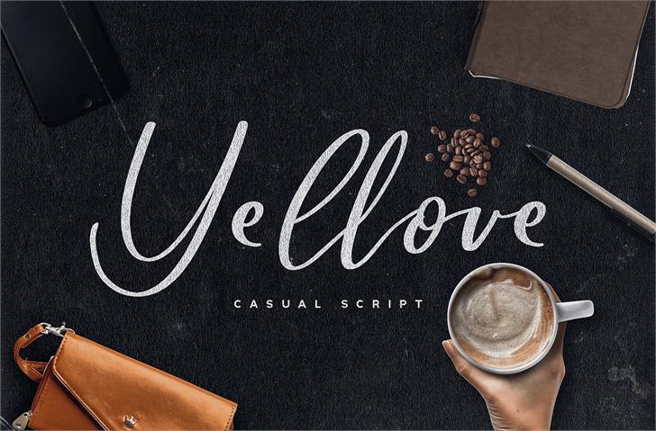 Yellove DEMO Font handwriting drink