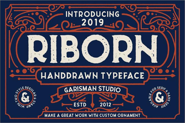 Riborn Font screenshot poster