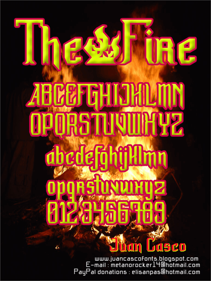 The·Fire Font text poster