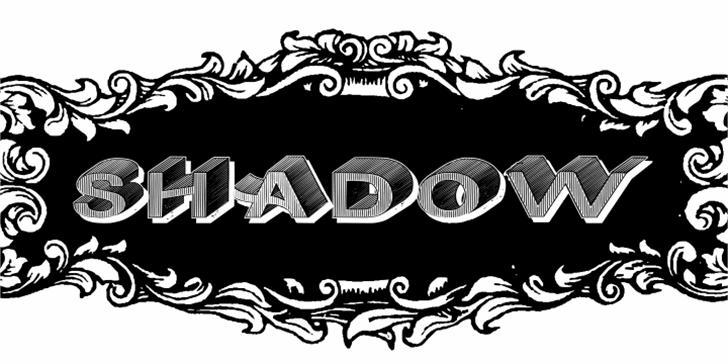 DasRiese Shadow Font cartoon drawing