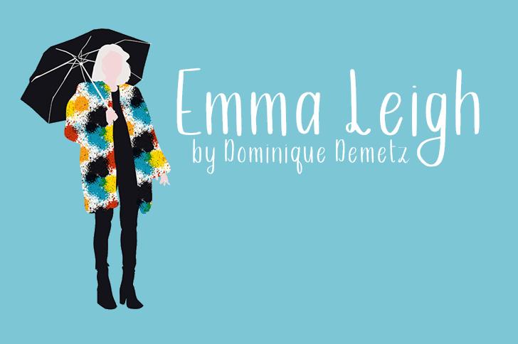 Emma Leigh Font cartoon design