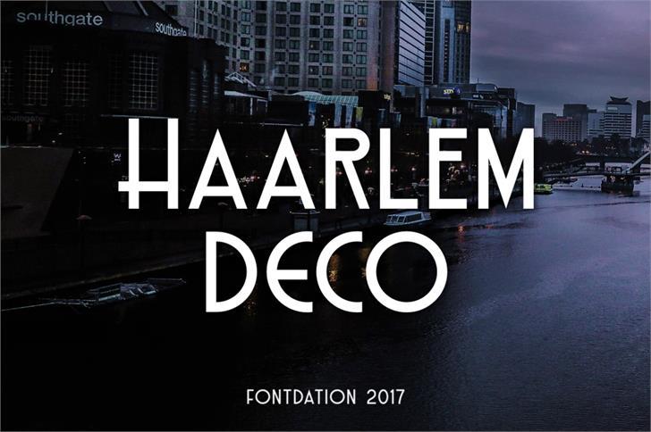 Haarlem Deco Demo Font screenshot poster