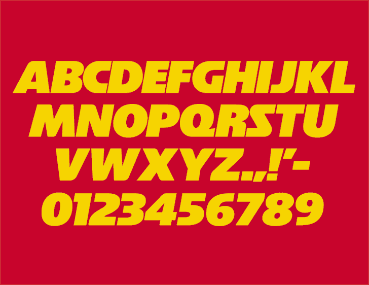 NFL Chiefs font by Sports Font Database