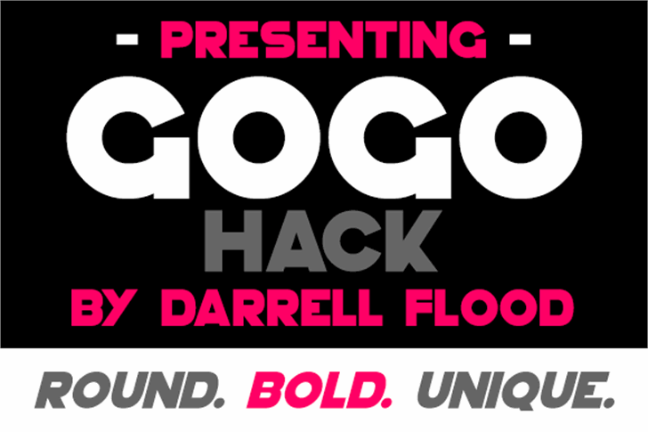GoGo Hack font by Darrell Flood