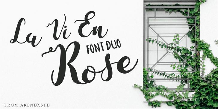 La Vi En Rose Font text