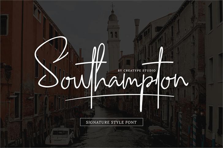 Southampton font by Creatype Studio