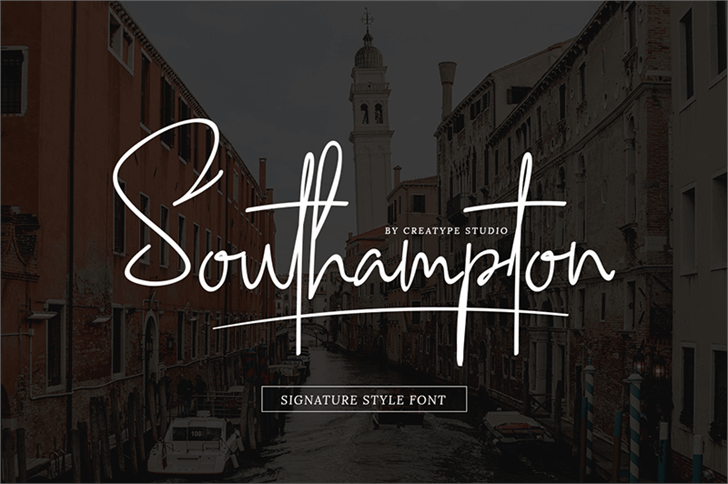 Southampton Font outdoor sign