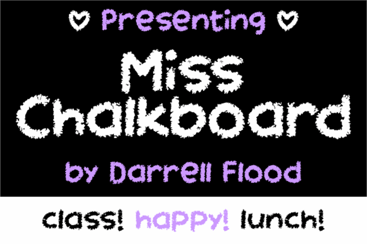 Miss Chalkboard Font screenshot design