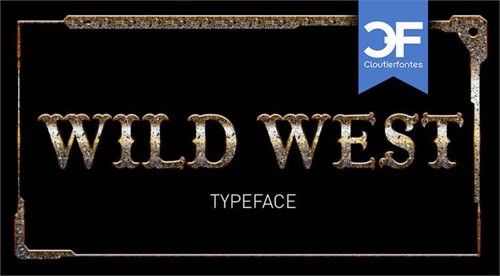 CF Wild West PERSONAL Font screenshot text