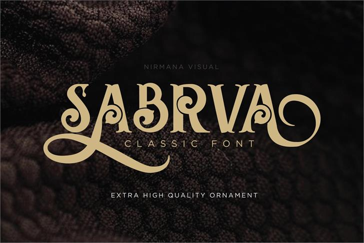 Sabrva-Demo Version Font poster book