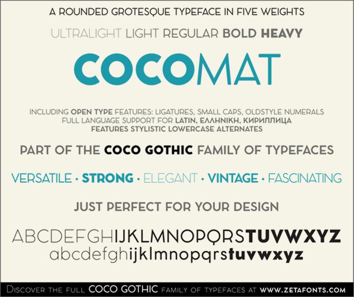 COCOMAT Font screenshot abstract