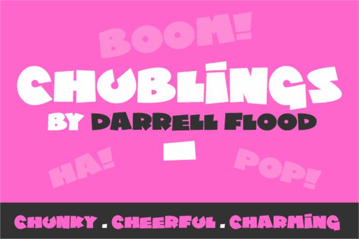 Chublings Font poster design