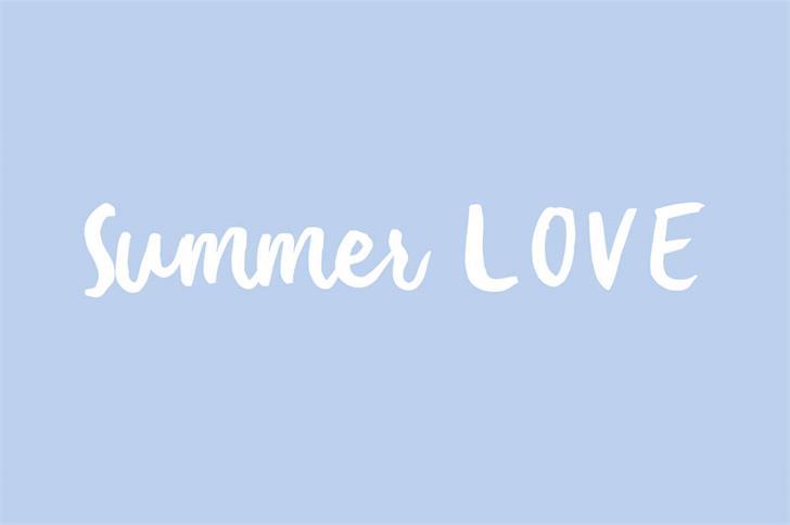 Summer Love Font design screenshot