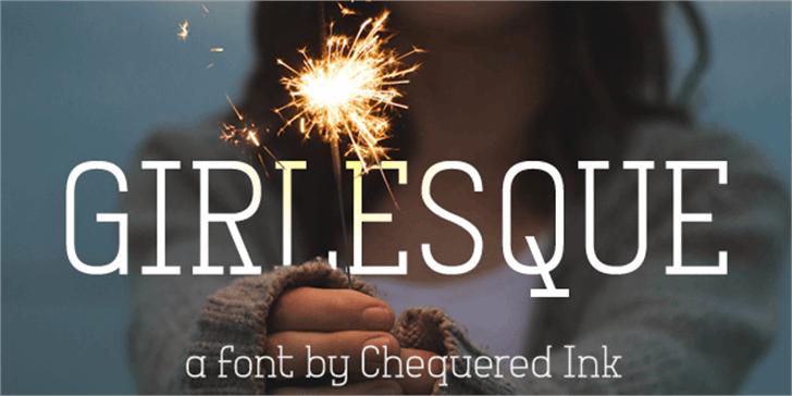 Girlesque Font fireworks
