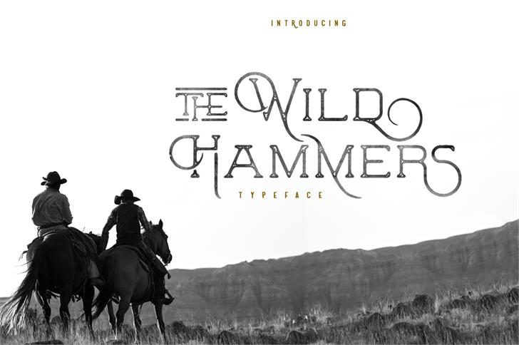The Wild Hammers Demo Font horse outdoor