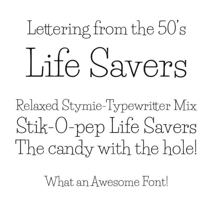 Life Savers Font screenshot typography