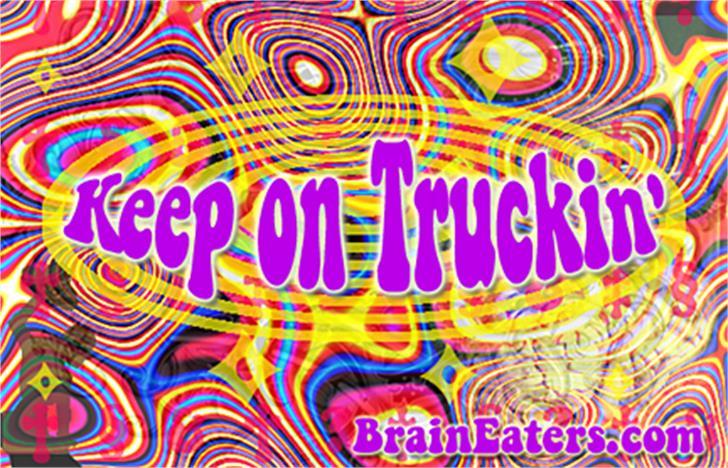 Keep on Truckin'FW Font nintendo