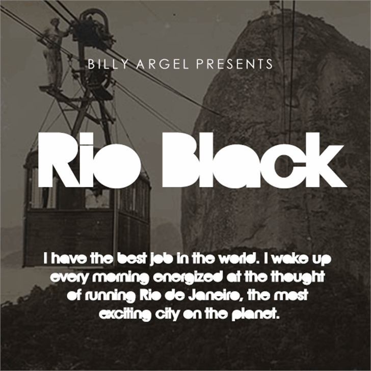 Rio Black Pesonal Use Font screenshot design